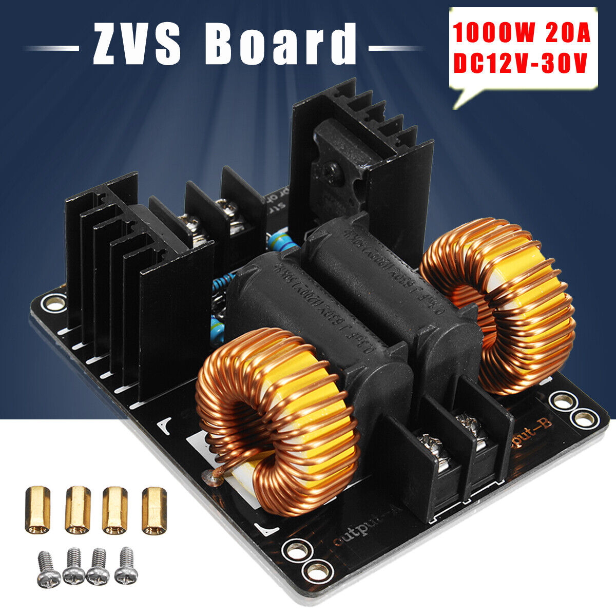 1000W ZVS Low Voltage Induction Heater Module Flyback Driver DIY Heating Board Module