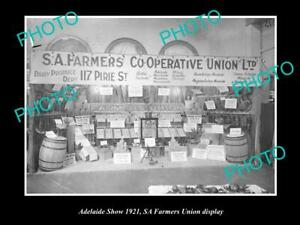 OLD 6x4 HISTORIC PHOTO OF THE SOUTH AUSTRALIAN FARMERS UNION SHOW DISPLAY c1921
