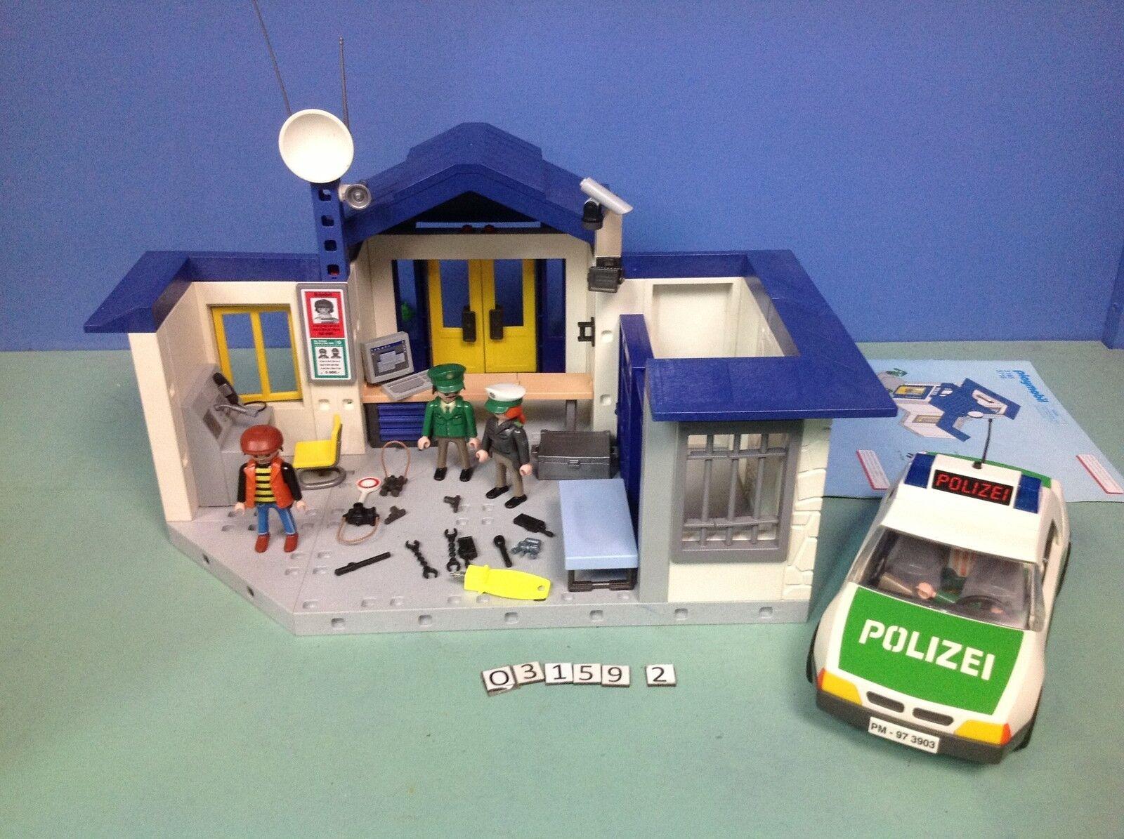 (O3159.2) (O3159.2) (O3159.2) playmobil caserne police  voiture ref 3159 3903 ab431e