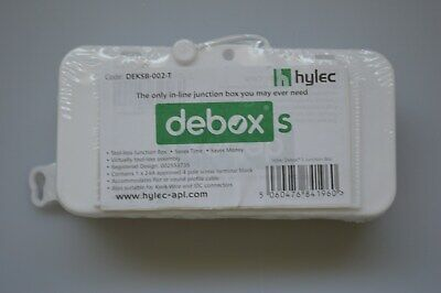 Box of 10 Hylec Debox S and SL Inline Junction Box