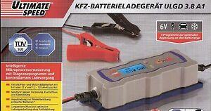 ultimate speed kfz batterieladeger t ulgd 3 8 a1 6 v oder 12 v lc display neu ebay. Black Bedroom Furniture Sets. Home Design Ideas