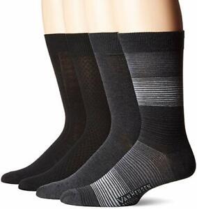 Van-Heusen-Mens-4-Pack-Premium-Dress-Socks-Size-10-13