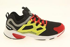 99.99 Reebok Men Fury Adapt black hyper green red rush white AR1868 ... d37a4c55e