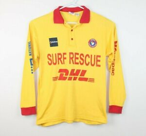 Surf-Rescue-Surf-Life-Saving-Super-Rare-Long-Sleeve-Sun-Shirt-Size-Men-039-s-Small