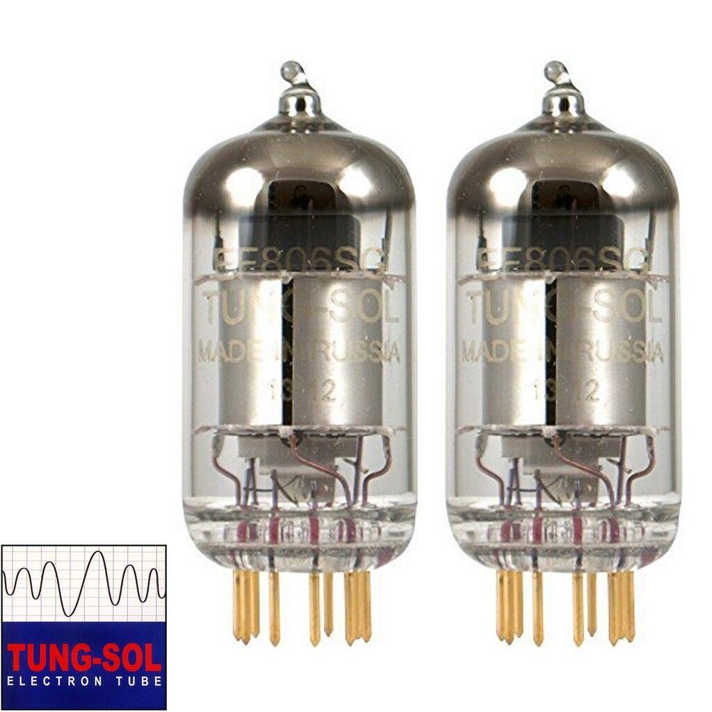 Neu Zugewinn Angepasstes Paar 2 X Tung-Sol Reissue EF806S EF86 6267 Gold Pin