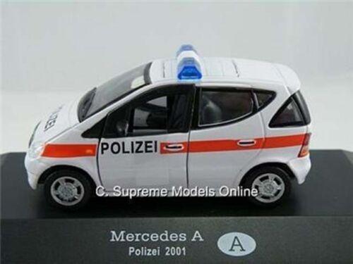 MERCEDES Classe un modello di auto della polizia polizei 2001 1//43 4 porte due volumi U4927Y ~ # ~