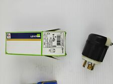 Leviton 2621 Black 2 Pole 3 Wire Grounding Plug Locking 30a 250v
