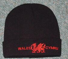 Wales/Cymru WELSH DRAGON design BEANIE/ SKI HAT