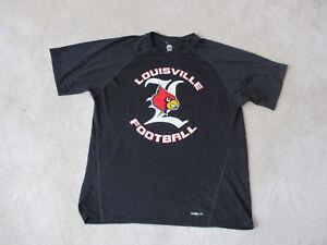 Adidas-Louisville-Cardinals-Shirt-Size-Adult-Medium-Black-Dri-Fit-Football-Mens