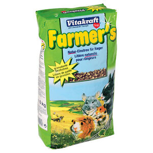 VITAKRAFT-Farmer-039-s-Natur-Einstreu-fuer-Nager-8kg-Kaninchen-Streu-Hasen-Hamster