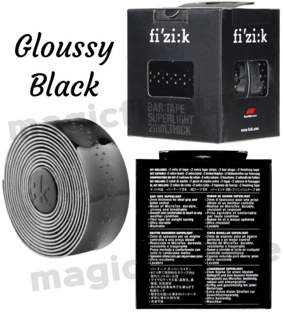 Black Fizik Superlight Glossy 2mm Road Bicycle Handlebar Tape