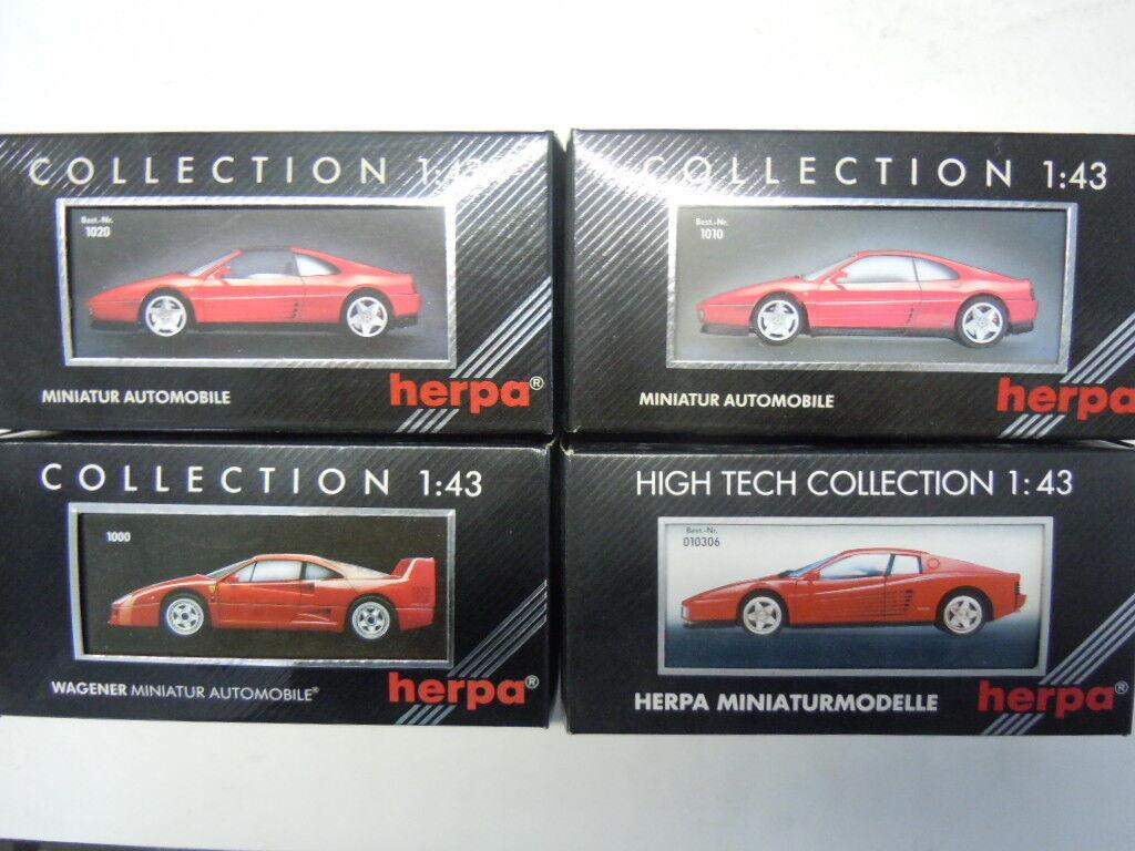 4 RARES Ferrari modèles de Herpa dans 1 43 neuf dans sa boîte NEUF