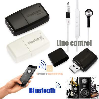 USB Wireless Bluetooth V4.1+EDR Music Audio Receiver 3.5mm A2DP Stereo Adapter