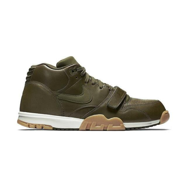 quality design 62a99 0910e Men s Nike Air Trainer 1 Mid Olive Gren Gum Athletic Fashion Sneakers 317554  300