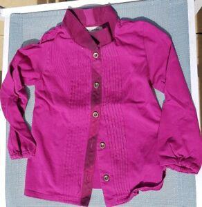 Camicia-originale-Burberry-Girl-3-anni-VERO-colore-simile-a-Borgogna-RRP-380
