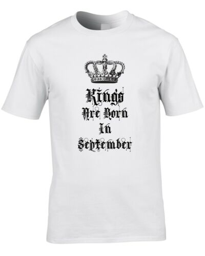 Kings Are Born In September Mens T-Shirt Birthday Gift Idea Royalty Prince King