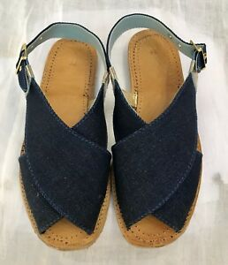 Handcrafted-Ladies-Leather-sandal-with-Blue-Denim-Upper-END-OF-SEASON-SALE