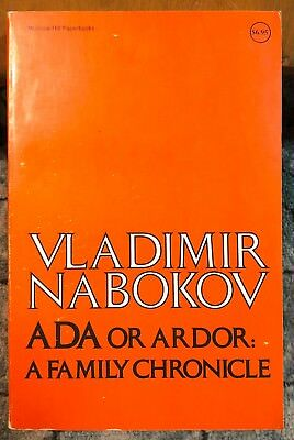 ADA or Ardor: A Family Chronicle by Vladimir Nabokov Russian Author PB 589 Pages