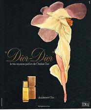 PUBLICITE ADVERTISING 084  1975  DIOR  par RENE GRUAU