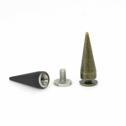 Cone Long Punk Rivet Solid Screw Back Fix Spike Bullet Studs Leather Craft DIY