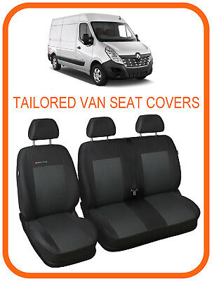 1 ECO LEATHER VAN UNIVERSAL SEAT COVERS for RENAULT MASTER 2
