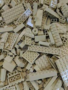 50-Lego-Pieces-Bulk-Lot-of-Tan-Bricks-Plates-and-Parts-Castle-Star-Wars-Parts