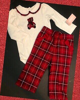 NWT GYMBOREE Holiday Traditions red black Plaid Pants