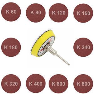 Schleifscheibe-Schleifteller-Schleifpapier-50mm-Dremel-Proxxon-Koernug-60-gt-800