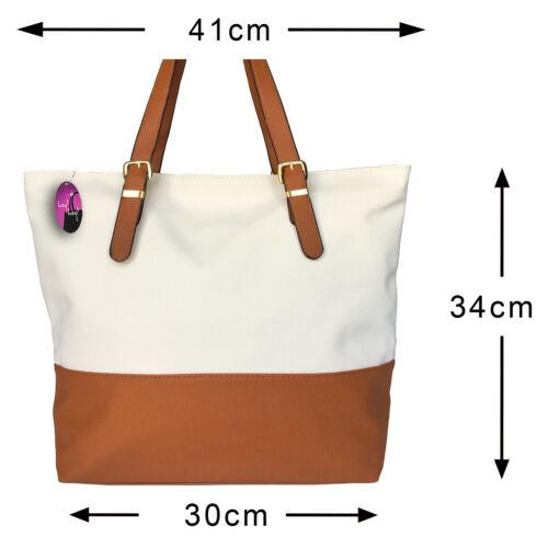 Large Handbag Fashion Oversize Big Bag Two Tone Shopper Designer Style Tote