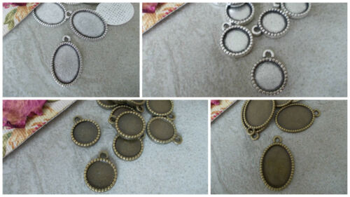 10MM TRAY 0R 18MM X 13MM CABOCHON MOUNT,PENDANT SETTING SILVER OR BRONZE