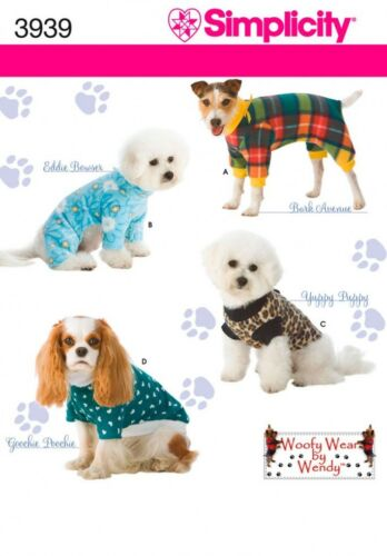 simplicité - 3... Simplicité Pets Easy sewing pattern 3939 Vêtements pour chien en 3 tailles