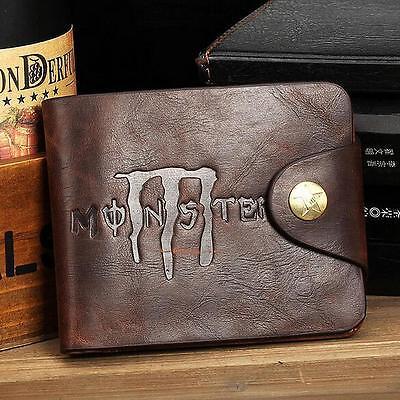 Men Bifold Business Leather Wallet Card Holder Coin Pocket Money Bag Purse Black
