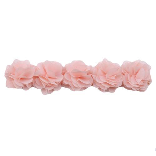 Baby Flower Headband Pink White Hair Accessories Band Handmade DIY Headwear