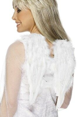 Donna Ragazze Adolescenti Piuma Bianca Angel Wings Natale Accessorio Per Costume Per Classificare Prima Tra Prodotti Simili