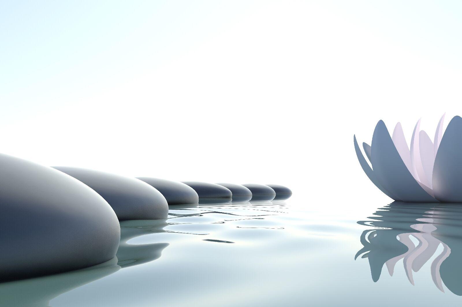 Leinwandbild Wasser Zen Steine Yoga Erholung Harmonie 120x80cm Leinwand Bild 161