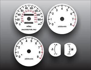 1995-1999-Mitsubishi-Eclipse-Dash-Instrument-Cluster-White-Face-Gauges
