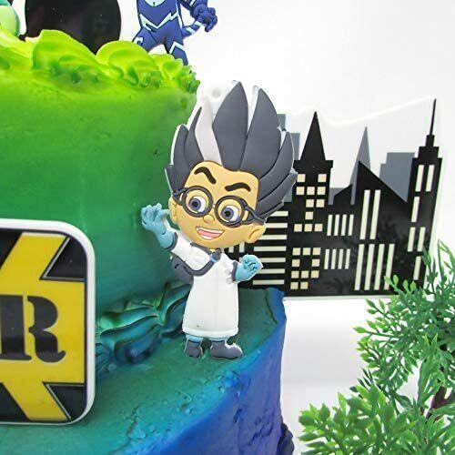 Luna Girl Gekko and Romeo Owlette PJ Masks Birthday Cake Topper Set Catboy