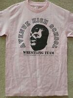 187 Inc Men's T-shirt avenue Hight School -- Pink/black