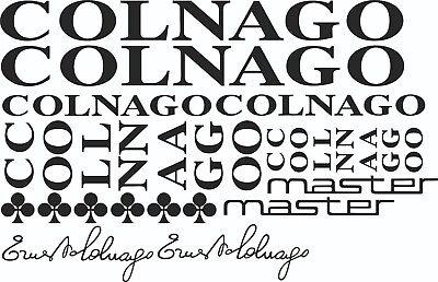 Colnago Master frame decal set Black Variation