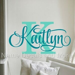 Girls Personalized Name Vinyl Wall Sticker Decal Nursery Bedroom Decor Kids