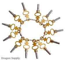 14pc Pocket Watch Winding Key Set Universal Jewelers Setting Tool Size 00-12 New