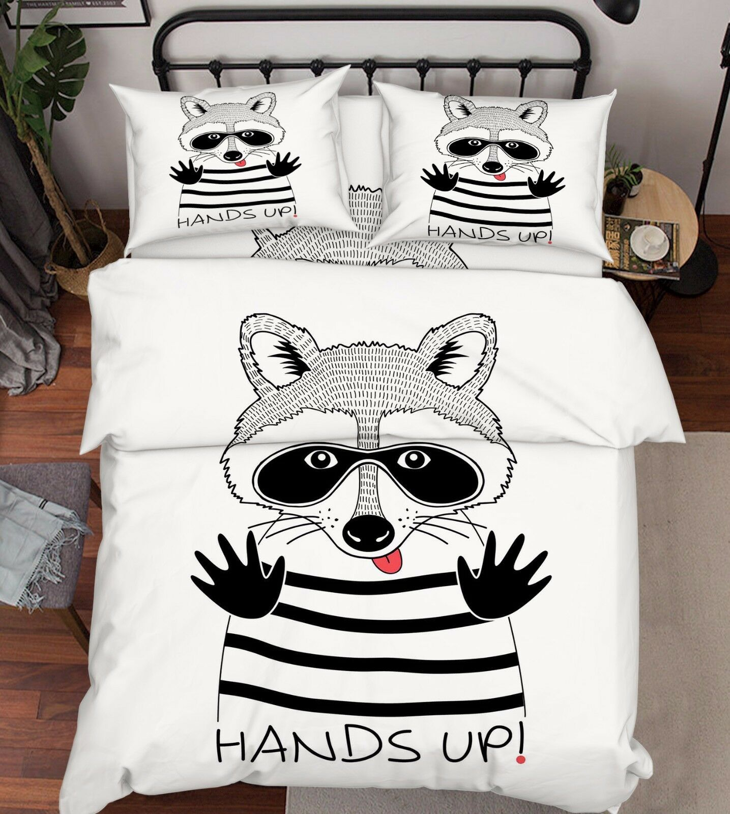 3D Raccoon Comics 7 Bed Pillowcases Quilt Duvet Cover Set Single Queen AU Lemon