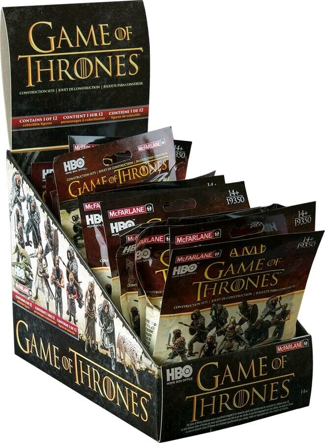 GAME OF THRONES - Blind Bag Construction 2  Mini Figures Display (24ct)  NEW