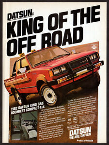 1983 Datsun King Cab TRUCK WITH A TRUNK Original Print Ad 8.5 x 11/""