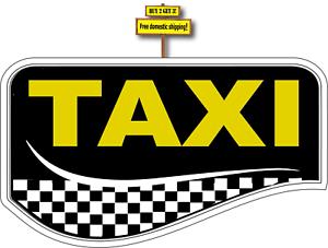 """Taxi Checker Board Sticker Decal 3.5"""" x 6.0"""" p150"""