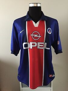 9d5e8f983 paris saint germain psg home football shirt 1998 99 (xl) ebay PSG Jordan Kit