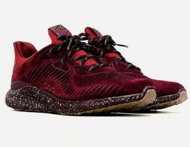 size 40 04ebc b26e2 Adidas AlphaBounce LEA CQ1189 Leather Maroon Men s Running Shoes Size 11.5  US