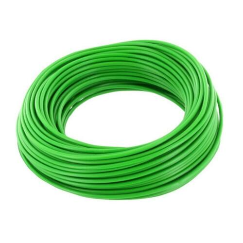 Ring 10m Kupferdraht 0,5mm isoliert Kabel Draht Schaltdraht grün 857356
