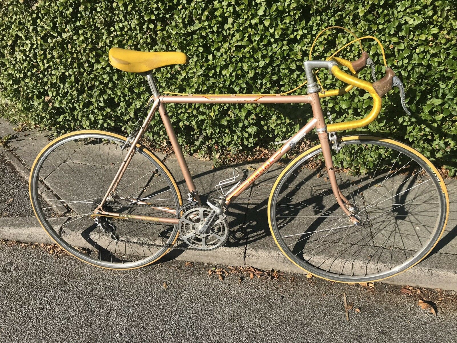 Rare Vintage Meral French Reynolds Steel Road Bike TA Triple Huret Jubilee Turbo