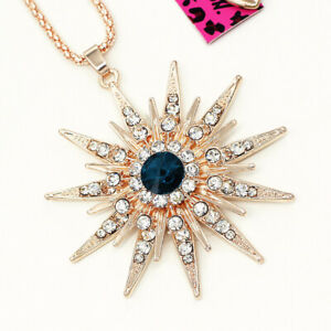 Women-039-s-Crystal-Rhinestone-Star-Pendant-Sweater-Chain-Betsey-Johnson-Necklace